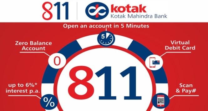 kotak 811 zero balance account